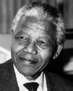 Nelson Mandela, gran luchador áfricano en contra del apartheid.